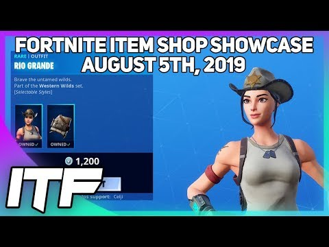 Fortnite Item Shop *NEW* RIO GRANDE SKIN SET! [August 5th, 2019] (Fortnite Battle Royale)