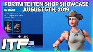 Fortnite Item Shop *NEW* RIO GRANDE SKIN SET! [August 5th, 2019] (Fortnite Battle Royale)