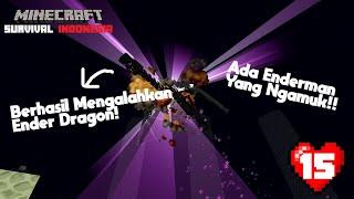 KITA BERHASIL MENGALAHKAN ENDER DRAGON!  Minecraft Survival Indonesia