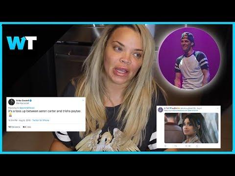 Fans Hilariously REACT to Trisha Paytas and Aaron Carter DRAMA
