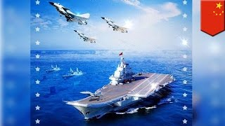 Photoshop fail: Chinese Navy uses Russian jets, U.S. ships in propaganda poster - TomoNews