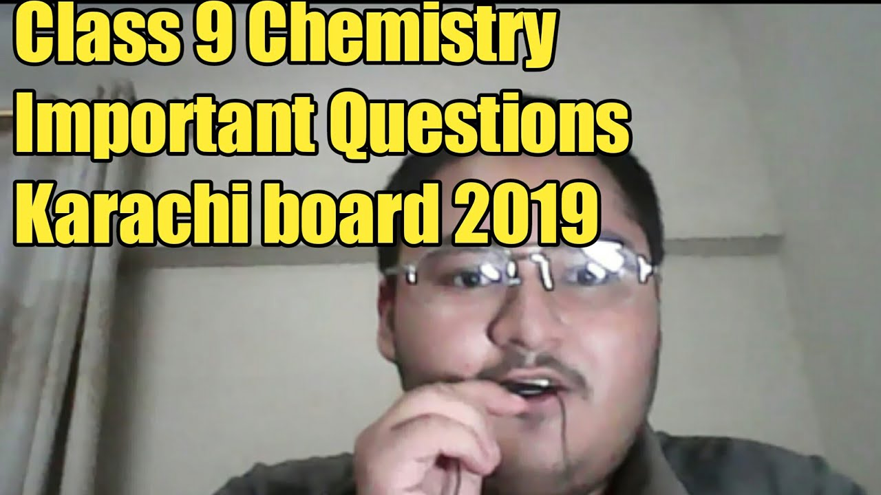Class 9 chemistry Important Questions for Karachi board science group 2019  in Urdu