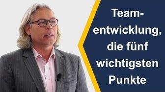 Teamentwicklung die fünf wichtigsten Punkte - [Video 9]