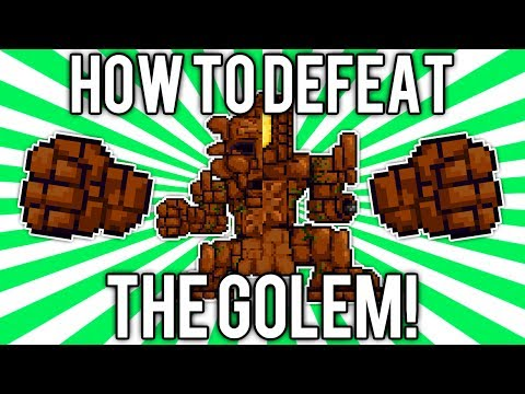 Terraria 1.2: How to Defeat the Golem! (UPDATED EASY SOLO GUIDE / TUTORIAL) @demizegg