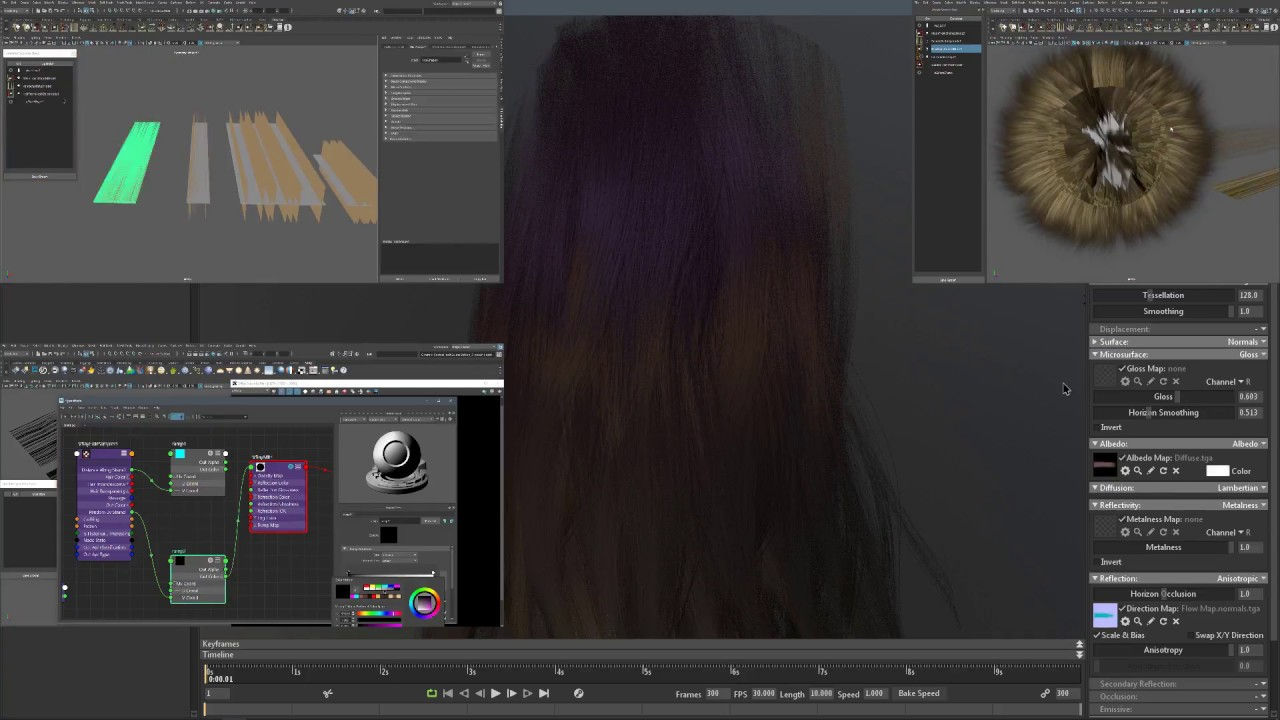 Ornatrix Hair for Games: Texturing and Shading
