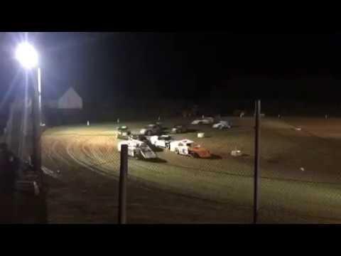 8-19-2017 35 Raceway Park Modifieds Feature - Keith Bills wins, Brian Whiteman 2nd