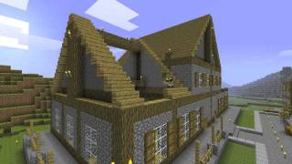 minecraft hall town library lapse
