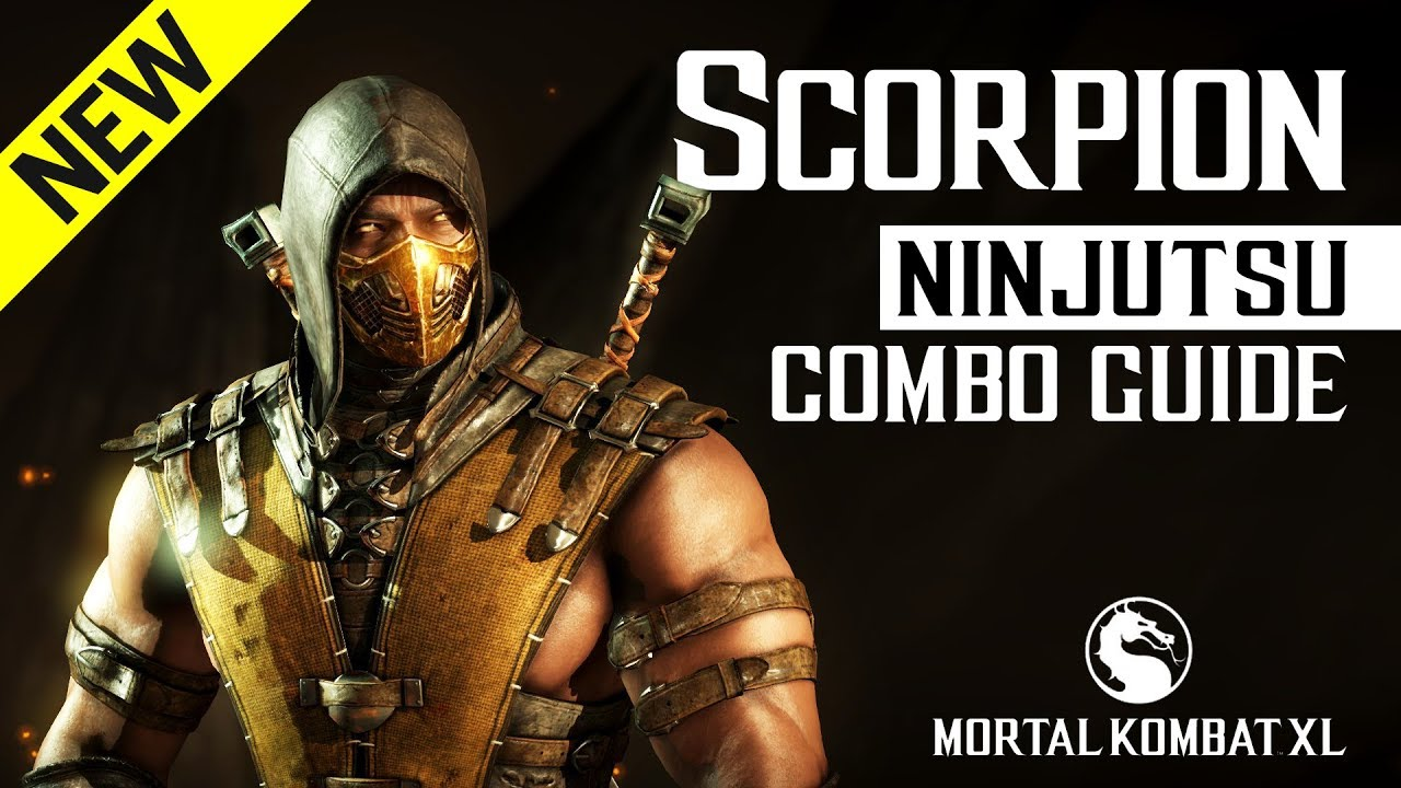 Mortal Kombat X Scorpion Ninjutsu Combo Guide Youtube