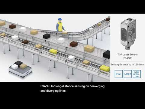 Omron E3AS Photoelectric Sensors | Flexible to design for Food Industry with no reflectors