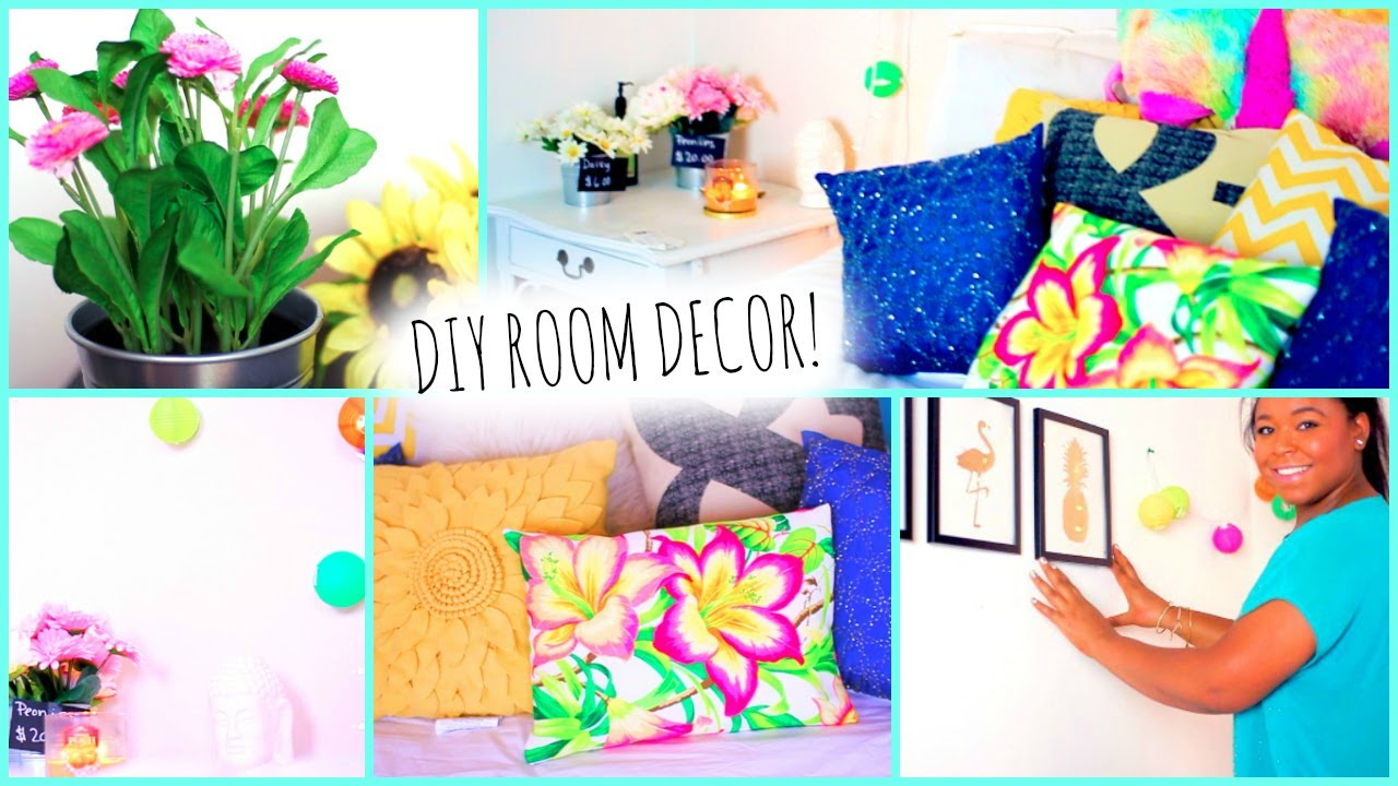 diy tumblr room decorations for teens! cute+ affordable! - youtube