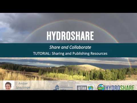 HydroShare: Publishing Resources