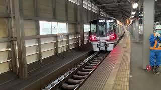 (列車発車)七尾線521系試運転