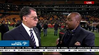 Reaction to Barcelona, Sundowns match