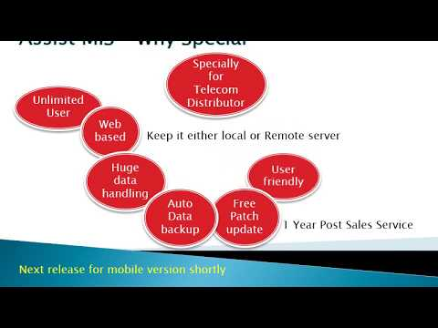 Assist MIS , a Software for Telecom Distributor to handle