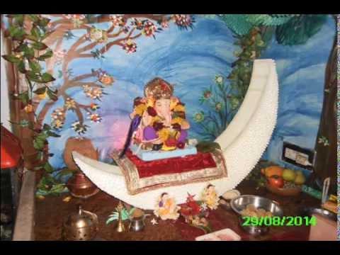 Ganesh Decoration At Home 2014 Sumit Marathe Youtube