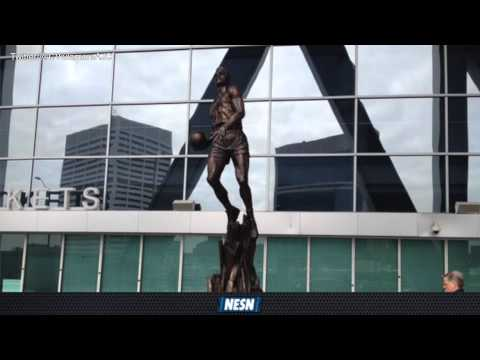 Larry Bird Trash Talks Dominique Wilkins Statue