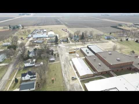 flying around Clarence, IA