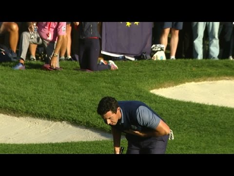 Rory McIlroy closes with a bang at the Ryder Cup