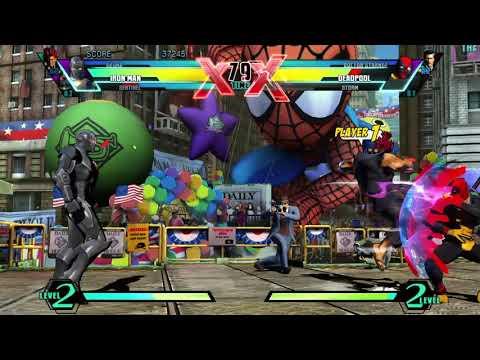Requested ULTIMATE MARVEL VS. CAPCOM 3 Iron Man/Sentinel/Akuma Arcade Gameplay  