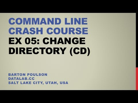 how to change directory in command line