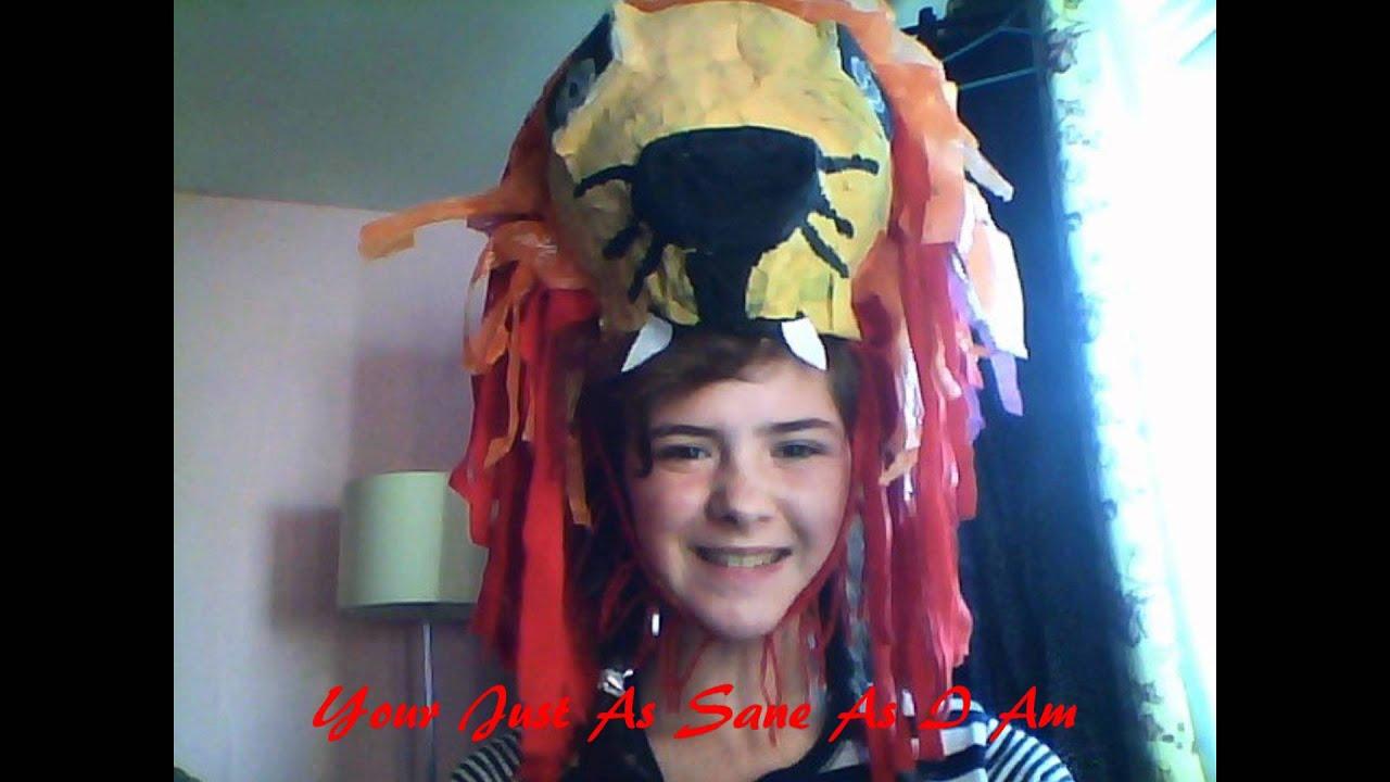 My Luna Lion Head Dress Hat Made By StarwarsGeekette - YouTube