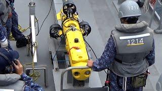 陸奥湾で海上自衛隊が機雷戦訓練