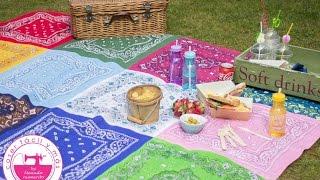 Mantel para fiestas con pañuelos de colores