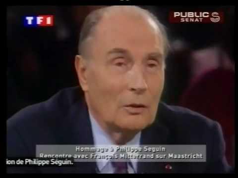 Mitterand..Seguin debat.pour.ou contre.l europe 1992.schengen