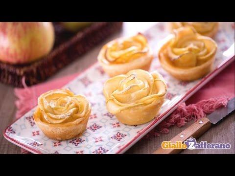 Roselline di sfoglia e mele