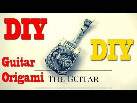How To  Create Dollar Origami Guitar    Origami Art Shows How To Make A $1 Dollar Guitar