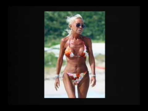 Donatella Versace In A Bikini