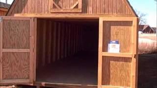 derksen portable buildings 12x32 lofted barn located at interstate plaza waynesville missouri