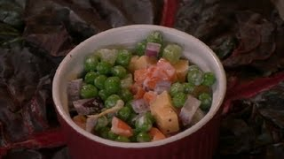 Peas & Cheddar Salad Recipe : Pea Salads