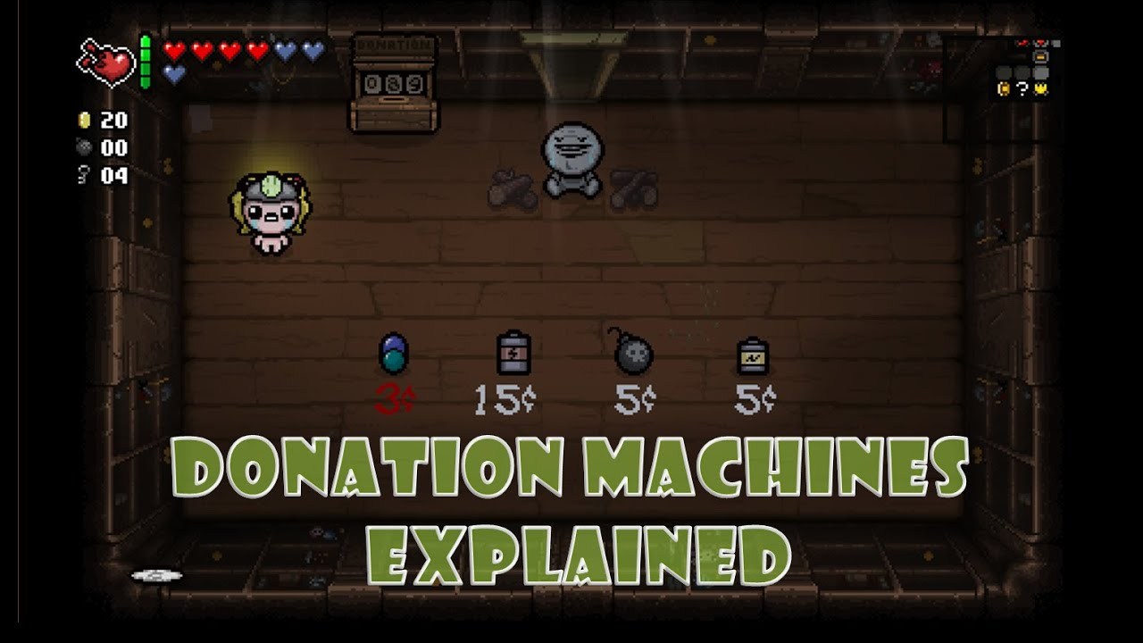 donation machine isaac