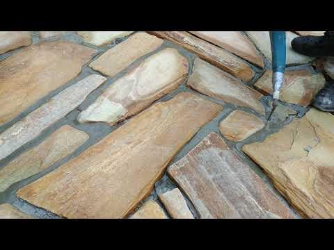 Расшивка швов камня