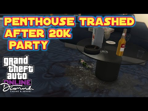How to clean your trashed Penthouse after 20k members party | Gta Online - Casino DLC