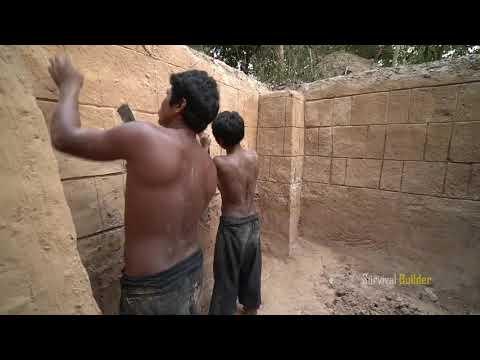 Построить самый секретный древний подземный дом и бассейн