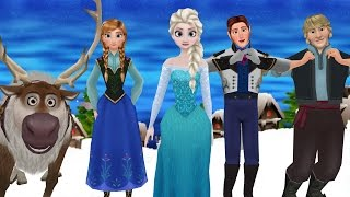 FROZEN ELSA FINGER FAMILY / 3D CARTOONS / frozen dance for children rhymes