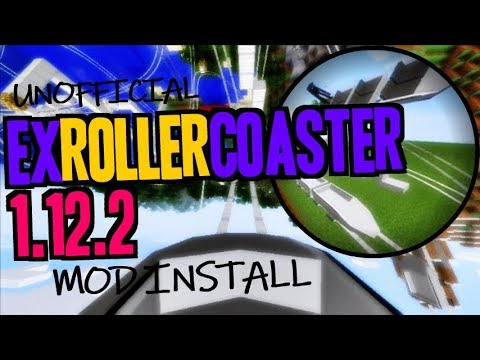 EX ROLLER COASTER MOD 1.12.2 Minecraft - How To Download And Install ExRollerCoaster 1.12.2