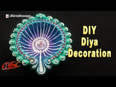 Vote no on diy how to color and decorate diwali diyajk arts for Diya decoration youtube