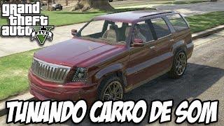 GTA V - Tunando o Albany Cavalcade CARRO DE SOM ÚNICO