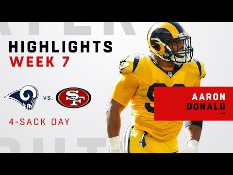 Aaron Donald Wreaks Havoc w/ 4 Sacks vs. 49ers!