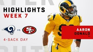 Aaron Donald Wreaks Havoc w/ 4 Sacks vs. 49ers!