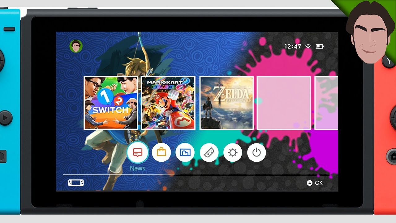 Nintendo Switch THEMES!! - Zelda, Splatoon, Mario FAN ART - YouTube