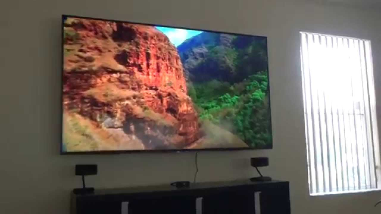 sony 75 inch 3d 4k led xbr75x850c mounted on wall part 1 youtube. Black Bedroom Furniture Sets. Home Design Ideas
