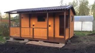 видео Мобильная баня из бруса под ключ: конструкция, преимущества и недостатки, цена