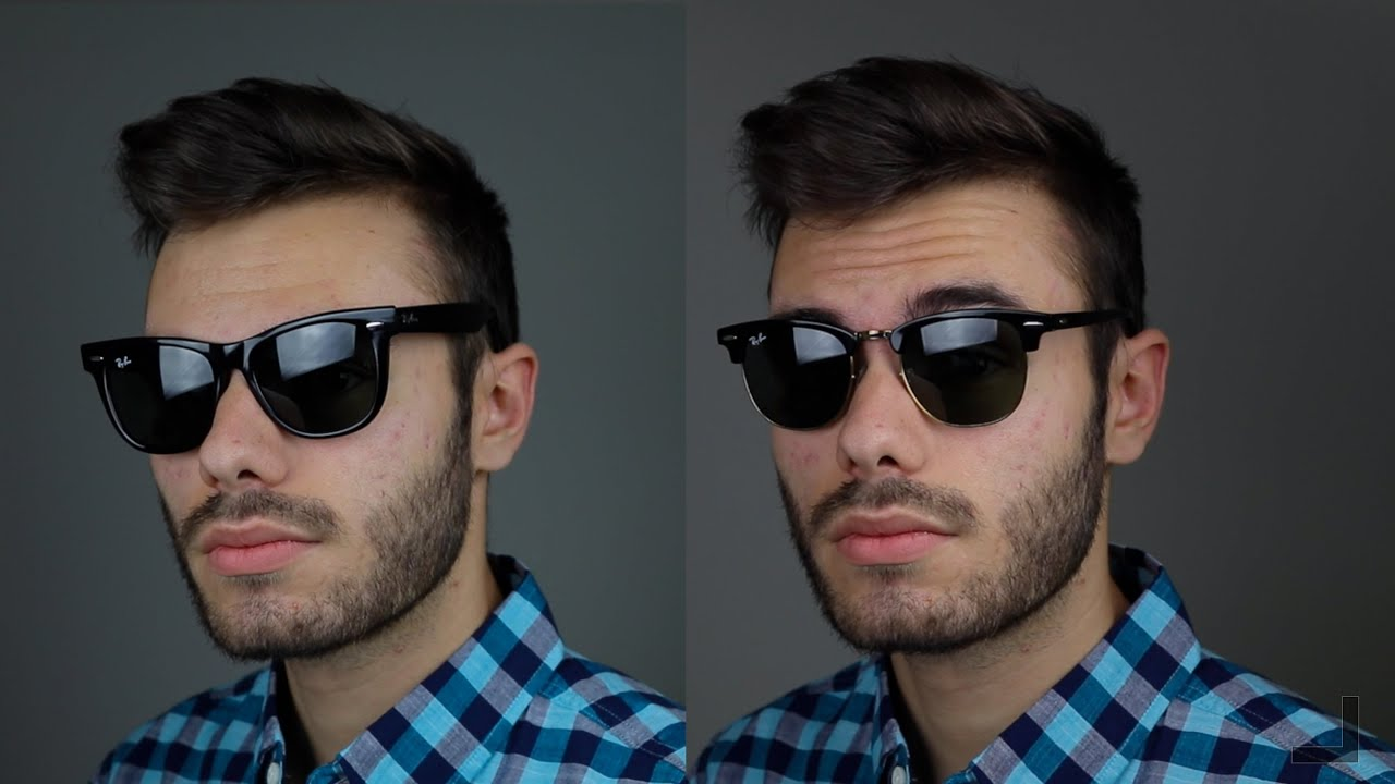 22ffc02ae6949 Ray-Ban Clubmaster vs Wayfarer - YouTube