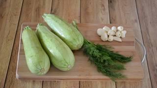 ВКУСНЫЕ КАБАЧКИ | Как приготовить жареные кабачки с чесноком | Рецепт жареных кабачков
