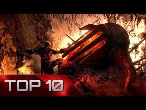 Top 10: God of War Boss Battles (all series) [HD]