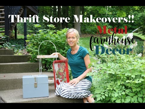 Farmhouse Style Metal Decor Makeovers